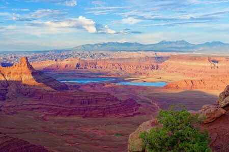 Evaporation pools in Dead Horse Point State Park, Utah Stock Photo