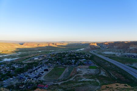 Overlooking Interstate 80 from above the Green River Tunnel near Green River, Wyoming