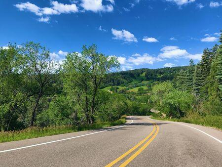 The Sandia Crest Highway near Albuquerque, New Mexico