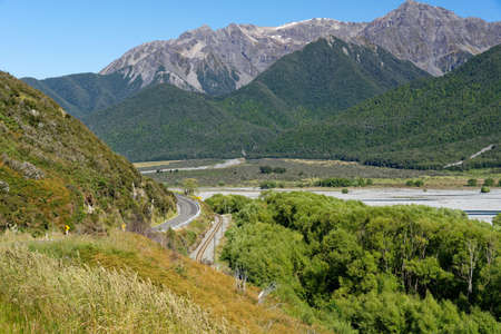 Arthur's Pass National Park in the Canterbury region of New Zealand