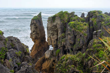 Pancake Rocks near Punakaiki, West Coast, New Zealand