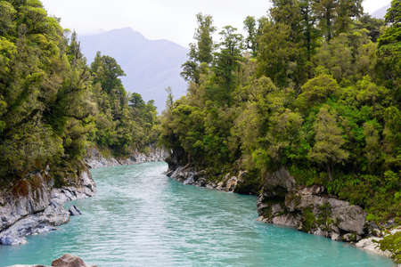Hokitika Gorge in the West Coast region of New Zealand Banco de Imagens