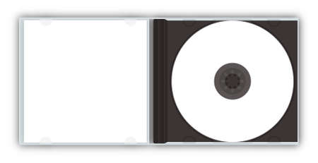 jewel case: CDDVD jewel case (with paths) Stock Photo