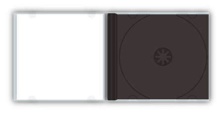 jewel case: Empty CDDVD jewel case template Stock Photo