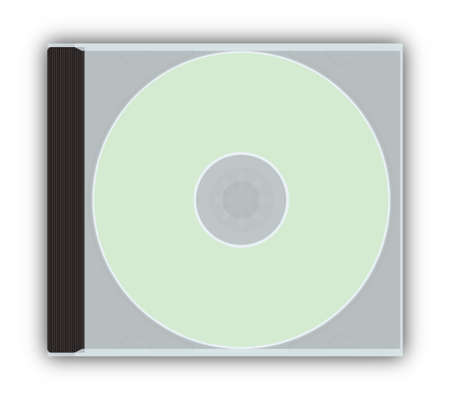 jewel case: CDDVD empty closed jewel case template (with paths) Stock Photo