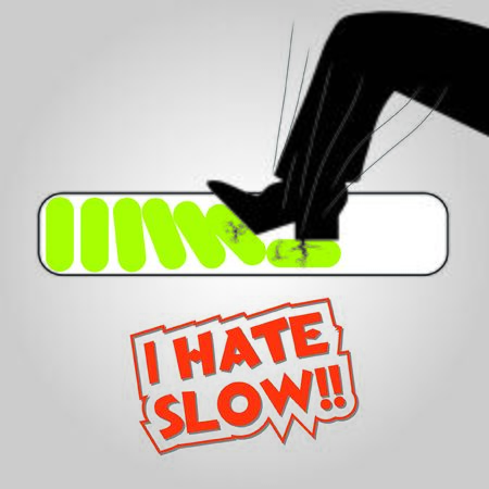 slow: i hate slow illustration concept
