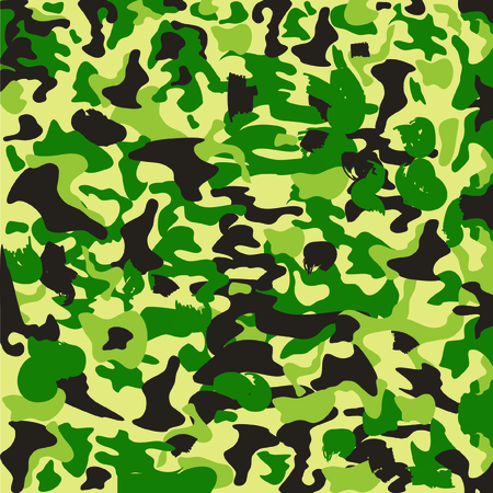 color conceal: Camouflage illustration