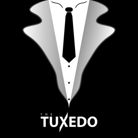dressy: Black and white tie tuxedo illustration