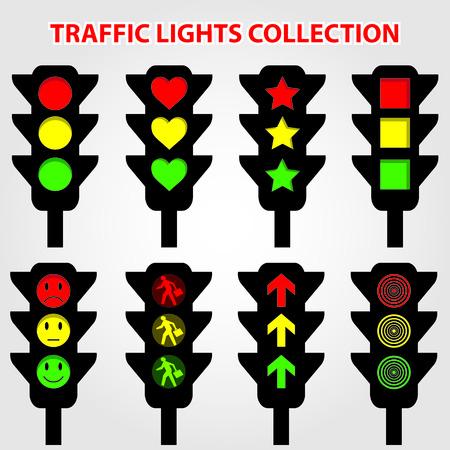 semaforo peatonal: Ilustraci�n vectorial Traffic Lights