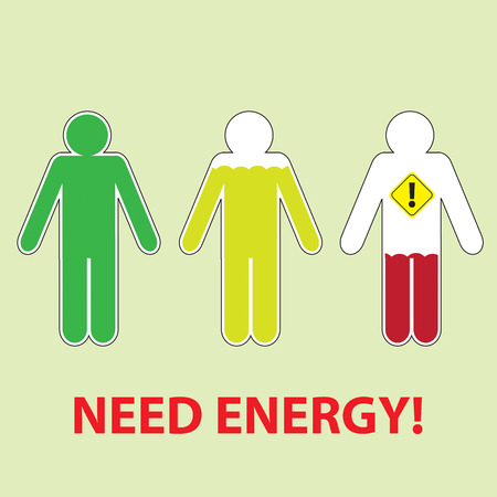 invigorate: Businessman Tired of Working and need a energy