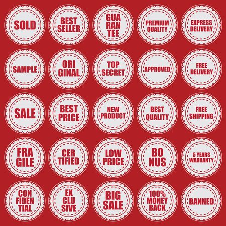 stamps element vector collection Vector