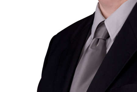 Businessman's tie and jacket up close over white Stock Photo - 1991166
