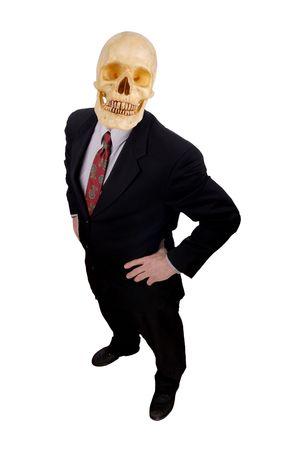 Businessman with a skull head  Reklamní fotografie