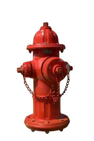 Vintage Red Fire Hydrant isolated over white