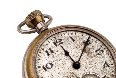 numerals: Antique pocket watch clock face  Stock Photo