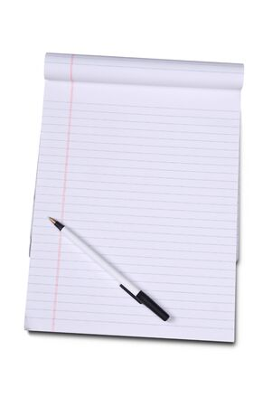 college ruled: White lined legal notepad Stock Photo