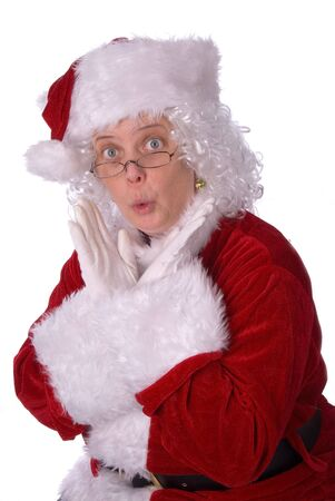 Mrs. Claus could not be more surprised Stock Photo - 2110718