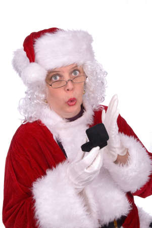 Mrs. Claus got an engagement ring for christmas Stock Photo - 2110713
