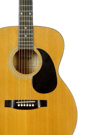 close up: close up of an acoustic guitar