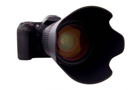 白で分離したデジタル カメラ