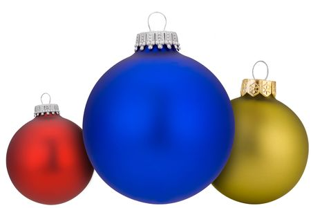 Christmas balls isolated over a white background