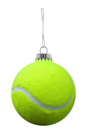 sports form: ornamento di palla da tennis isolato su uno sfondo bianco