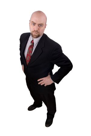 Businessman with a serious look isolated over white  Stock Photo