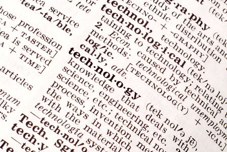emphasized: Definition of technology emphasized by a macro lens Stock Photo
