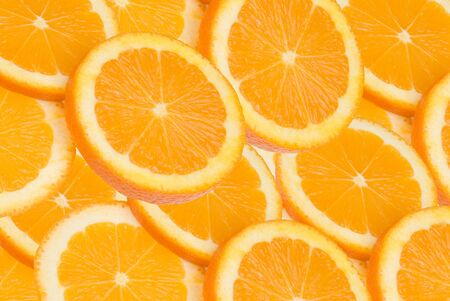 Group of High resolution circular orange slices background Stock Photo - 2125804