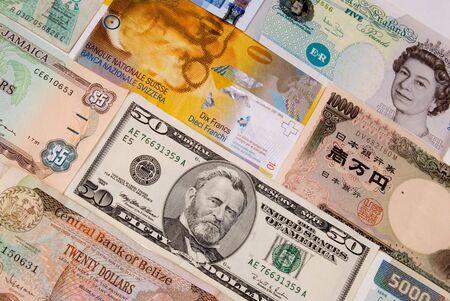 assorted international paper money close up Reklamní fotografie - 2125871
