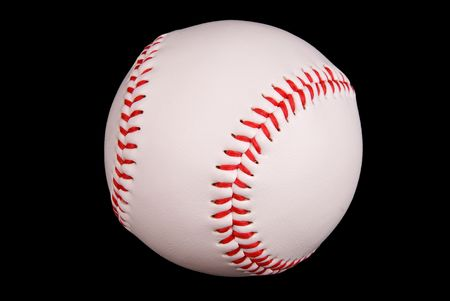 Baseball isoloated on black with Stock Photo - 2123580