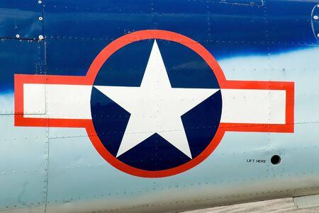 米国の空軍記章を切り抜いて平面と平面の Fusalodge に