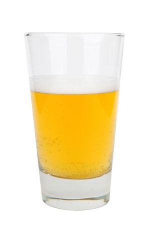 Half a glass of beer with froth  Stock Photo - 2133759