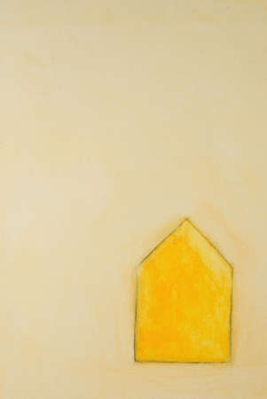 This is an abstract illustration of a house.                                 Zdjęcie Seryjne