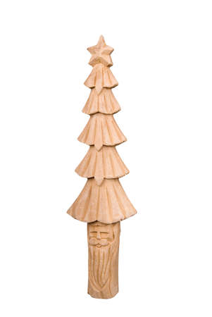 hand carved: Hand carved christmas decoration