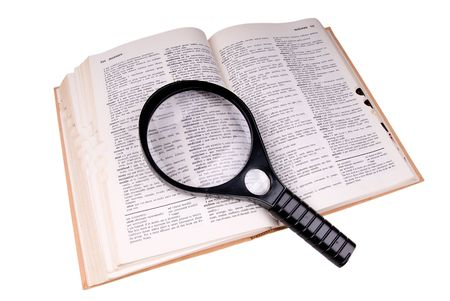 Magnifying glass over the word medical photo