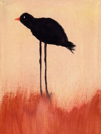This is an abstract painting of bird.