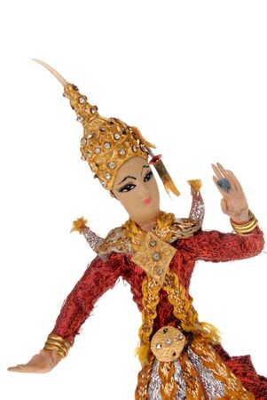 Decorative Indian doll isolated over white photo