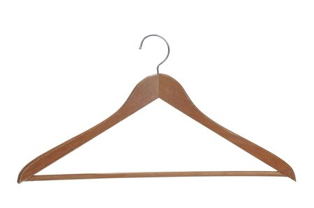 Wooden hanger isolated over a white background