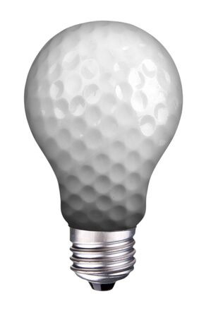incondescent lightbulb with golf ball Reklamní fotografie