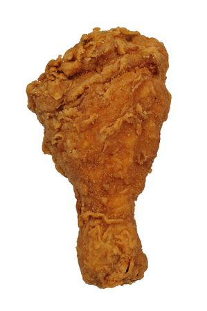 Fried Chicken leg isolated over a white background
