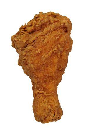 chicken roast: Pierna de pollo frito aislada sobre un fondo blanco  Foto de archivo