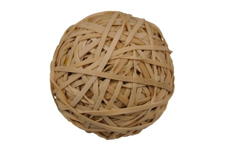 rubberband: Rubberband Ball isolated over a white background with clipping path