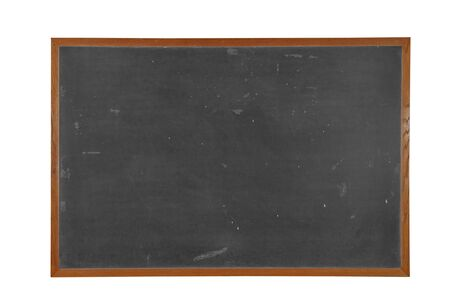 Blank vintage Blackboard with wood frame isolated over white