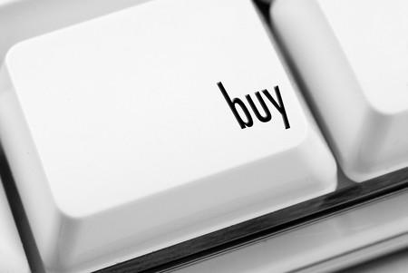 Buy key on computer keyboard  Reklamní fotografie
