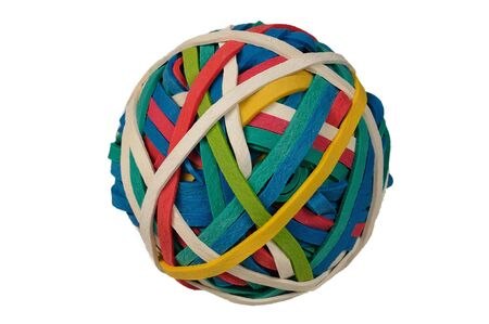 rubberband: Colored Rubberband Ball isolated over a white background