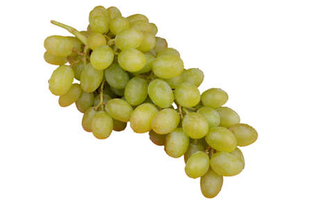 Ripe green grapes on a white background with a clipping path Reklamní fotografie