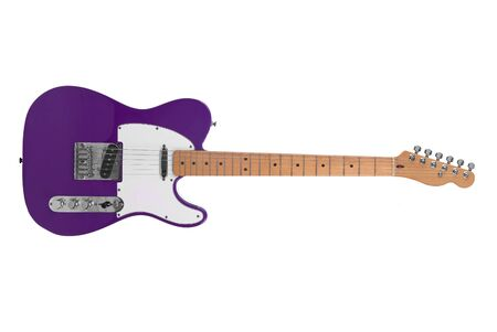 Electric Guitar isolated over a white background with a clipping path