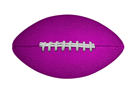 Pink American football isolated over a white background with a clipping path