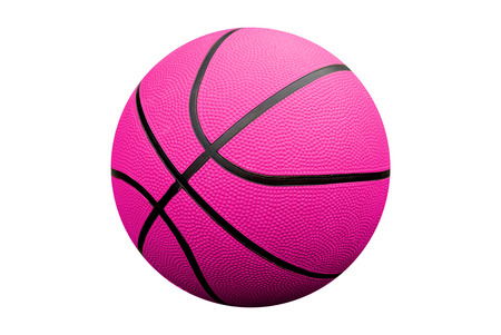 Pink Basketball isolated over a white backgroung with a clipping path